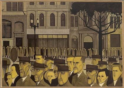 john brack, crowd, 1955