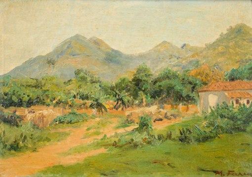 MANOEL FARIA - Paisagem - Óleo sobre tela - 25 x 36