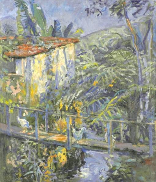 Marie Nivoulies de Pierrefort, A velha pinguela, 1955, OST, 55 x 48