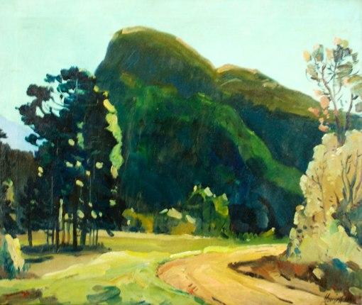 MOACIR ALVES - (1904 - 1982) Paisagem de Itatiaia - ost - 46 x 54 - cid e d - 1953 - Itatiaia