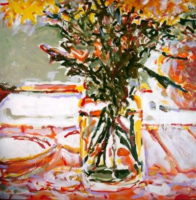NEWTON MESQUITA - (1948) Flores, 1996, astcm,100x100