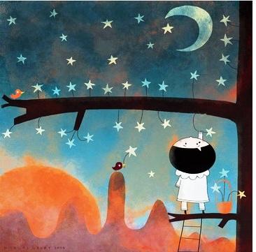 noite, ceu, estrelas,Nicolas Gouny - cueillir des étoiles