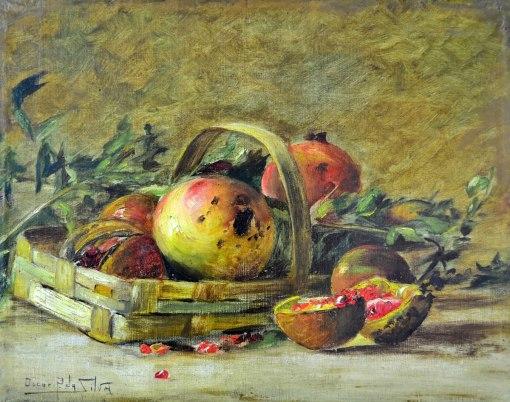 OSCAR PEREIRA DA SILVA - (1867 - 1939) Frutas - ost - 28 x 36 - cie