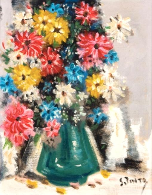 Sylvio Pinto Vaso de Flores 41 x 33,5 cm - OST