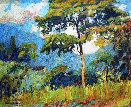VICENTELEITE(1900-1941)Cosme Velho,osm,38 x 46cm