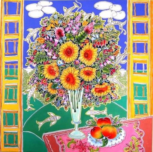 Adir Sodré de Souza (Rondonópolis, Mato Grosso, 1962), Vaso com flores e peixe