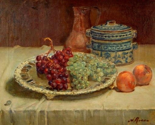 ANTONIO ROCCO - (Itália,1880 – Brasil, 1944)Natureza morta - óleo sobre tela - 48 x 59 cm