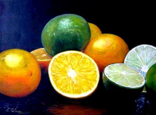 E. Feitosa - Frutas - Óleo sobre tela - 60 x 80 cm