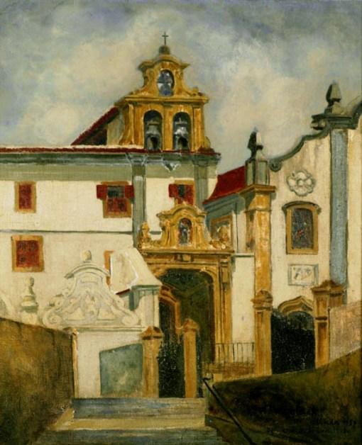 Georges Wambach, Igreja de Nossa Sra. Do Bom Parto, Olinda, 1957,47 x 42