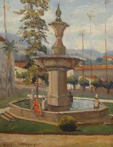 GEORGINA DE ALBUQUERQUE. Velho colonial de Vassouras, osm,35 x27cm