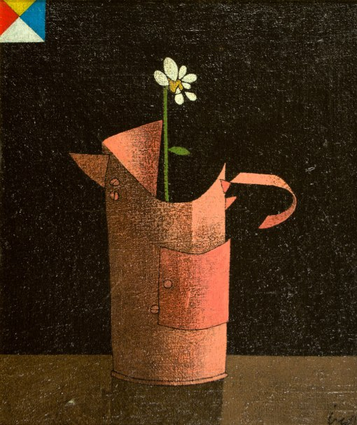 INOS CORRADIN - (1929)- Vaso de flor - ostce - 37 x 32 - cid - déc. de 60