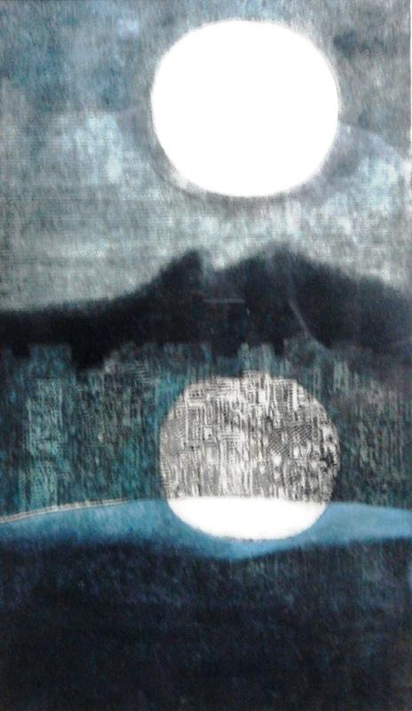 ISABEL PONS (1912 - 2002 )Reflexo da lua, P.E. 35 x 22