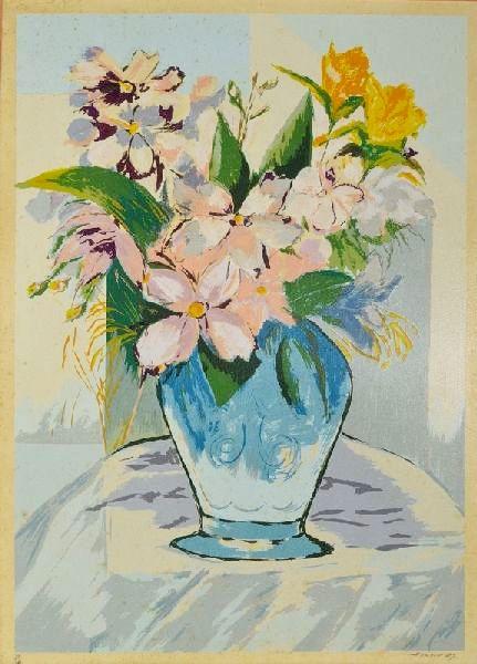 JENNER AUGUSTO - (1924 2003) - Vaso de Flores, litogravura - 90 x 63 cm