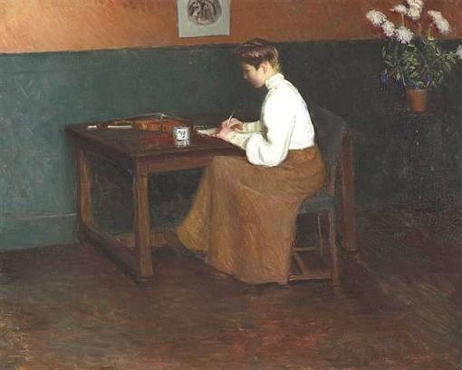 Lilla Cabot Perry , No estúdio,(EUA, 1848-1933), ost, 65 x 81cm