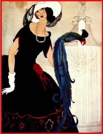 mulher e pássaro, vogue, junho 1921