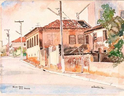 Nathaniel Guimaraes,velhacasa,1978,aquar,23x30,AdoMalagoli,POA