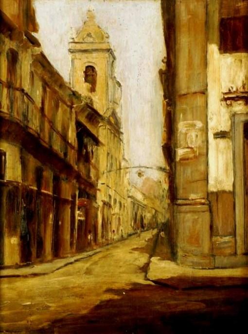 Sylvio Pinto,Vista do Rio de Janeiro,Parte antiga, 1952,OSM, 38 x 30,1.800