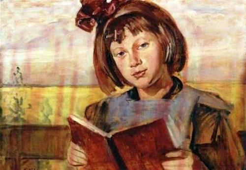Wincenty Wodzinowski (1866 – 1940, Polonia )Filha do artista