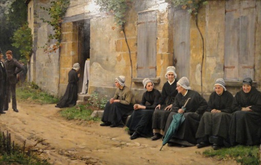 Charles Sprague Pearce - A Village Funeral in Brittany