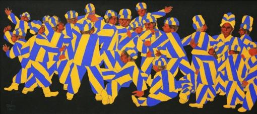 Mario Gruber, fantasiado, 2000, ast, 50 x 110cm
