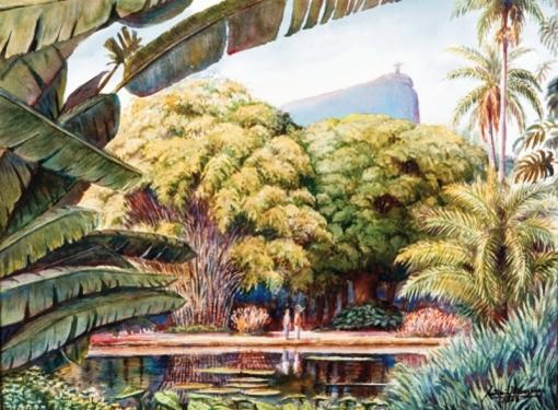 Antônio Orleans e Bragança, Jardim Botânico - RJ,2008,46 x 61 cm – Aquarela