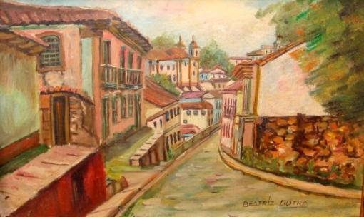 Beatriz Dutra,(1926)Rua e casario,osp,14 x 23 cm