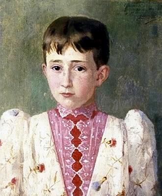BerthaWorms(1868-1937)Figurademenino,1886,ost,46x39,pinacotecaestsp