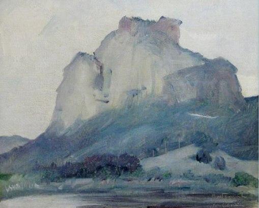 BUSTAMANTE SÁ (1907-1988)Pedra da Gávea–ost,33 x 41 cm