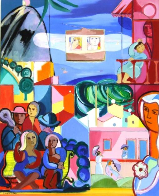 ÍCERO DIAS (1908 - 2003) - Pão de Açúcar - Rio de Janeiro, o.s.t. - 100 x 81