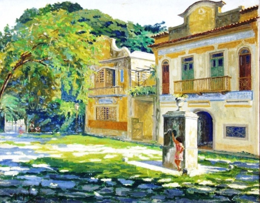 CAROLLO, Edy Gomes (1921) Largo do Boticário, o.s.t. 73 x 93