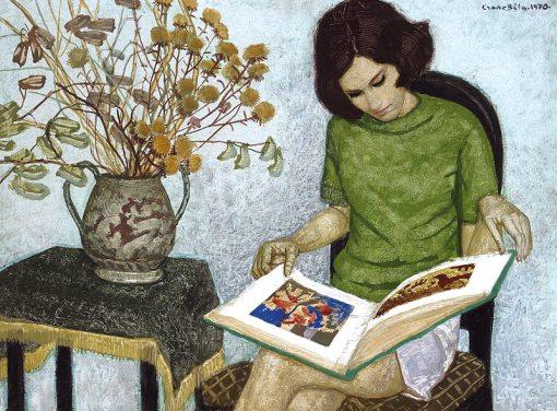 Czene, Béla (1911-1999) Olvaso lány, 1970