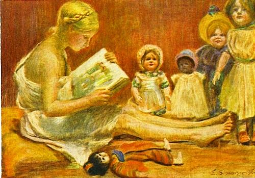 E Schwarzer, cartão postal, Alemanha 1915