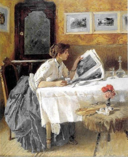 Francesco Netti, La lettrice, 1873