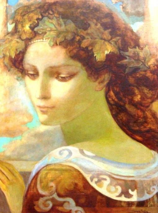 Isolda,Retrato de Mulher, o.s.e, 42 x 32. Ass. CID.