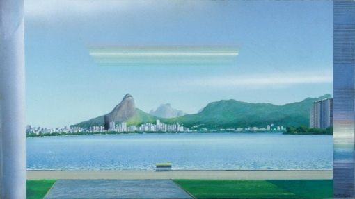 Ivan Freitas (1932-2006) Paisagem da Lagoa Rodrigo de Freitas, ose, 88x55