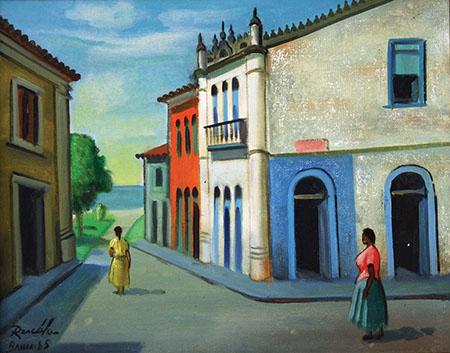 João José Rescala, (1910-1990) Dia de sol em Itaparica-Bahia,ost, 40x50