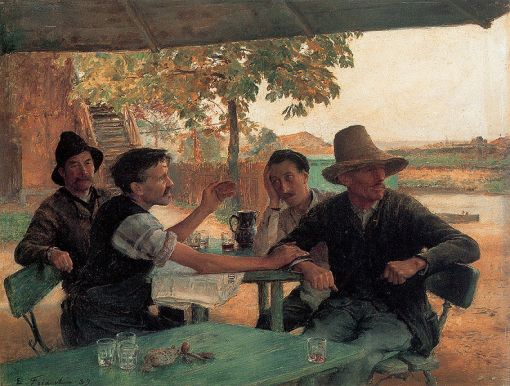 La Discussion politique - Emile Friant