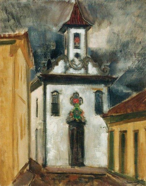 MARCIER,Emeric(1916 - 1990)CapelaImperialdoAmparo,Diamantina,1954,ost,81x65