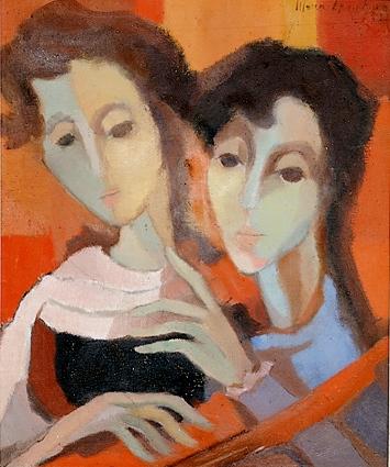 Maria Leontina, Duas figuras, 1952, ost, 46x38