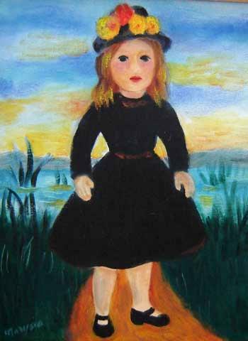 Marysia Portinari (1937) Boneca de vestido preto (década de 80)