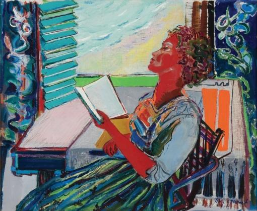 Mig Quinet (Bélgica1906-2001) A leitora, 1942, ost, 39 x 43cm