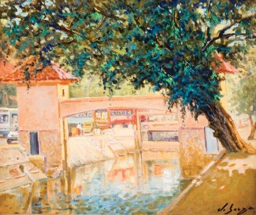 ROBERTO DE SOUZA (1943)Comporta do Canal do Leblon, 2003, ost,46x55
