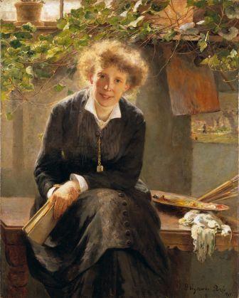 Bertha Wegmann(Dinamarca 1846-1926) Retrato de Jeanna Bauck, 1881