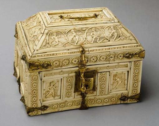 caixa em marfim, bizantina, metropolitan