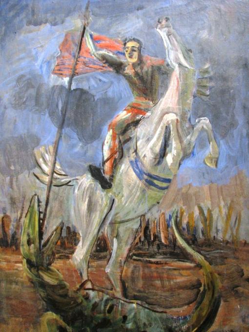 Ernesto de Fiori, São Jorge e o Dragão, ost, 1943-44, Pinacoteca do Estado de SP