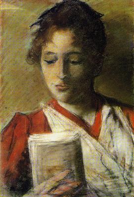 la lectrice du peintre Giovanni Fattori,