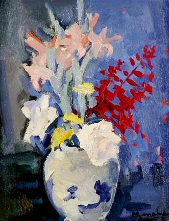Manabu Mabe - Vaso de Flores-- ost , 1952 - 41x33 cm