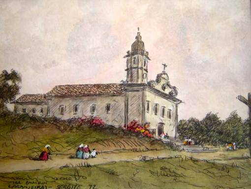 Manlio Moreto, Laranjeiras, Sergipe, 1972, aquarela, 14x19