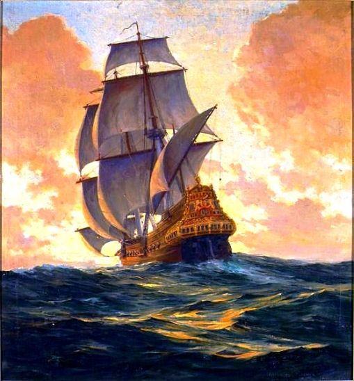 navio no mar, 1935,anton otto fischer