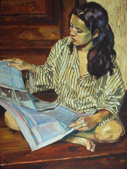 Roberto van der  Ploeg, ( Holanda, 1955, radicado no Brasil desde 1979) leitura matutina  o_s_t_ 80x60 2010_
